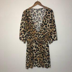 ASOS Animal Print Swimsuit Cover Up